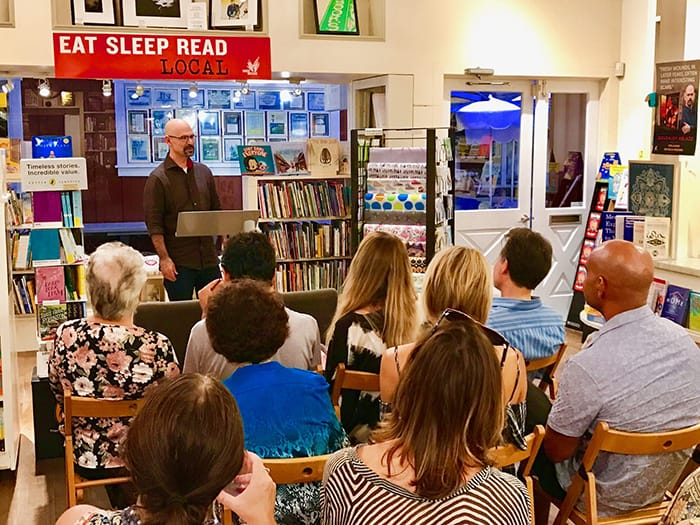 USA book launch at Diesel Book Store